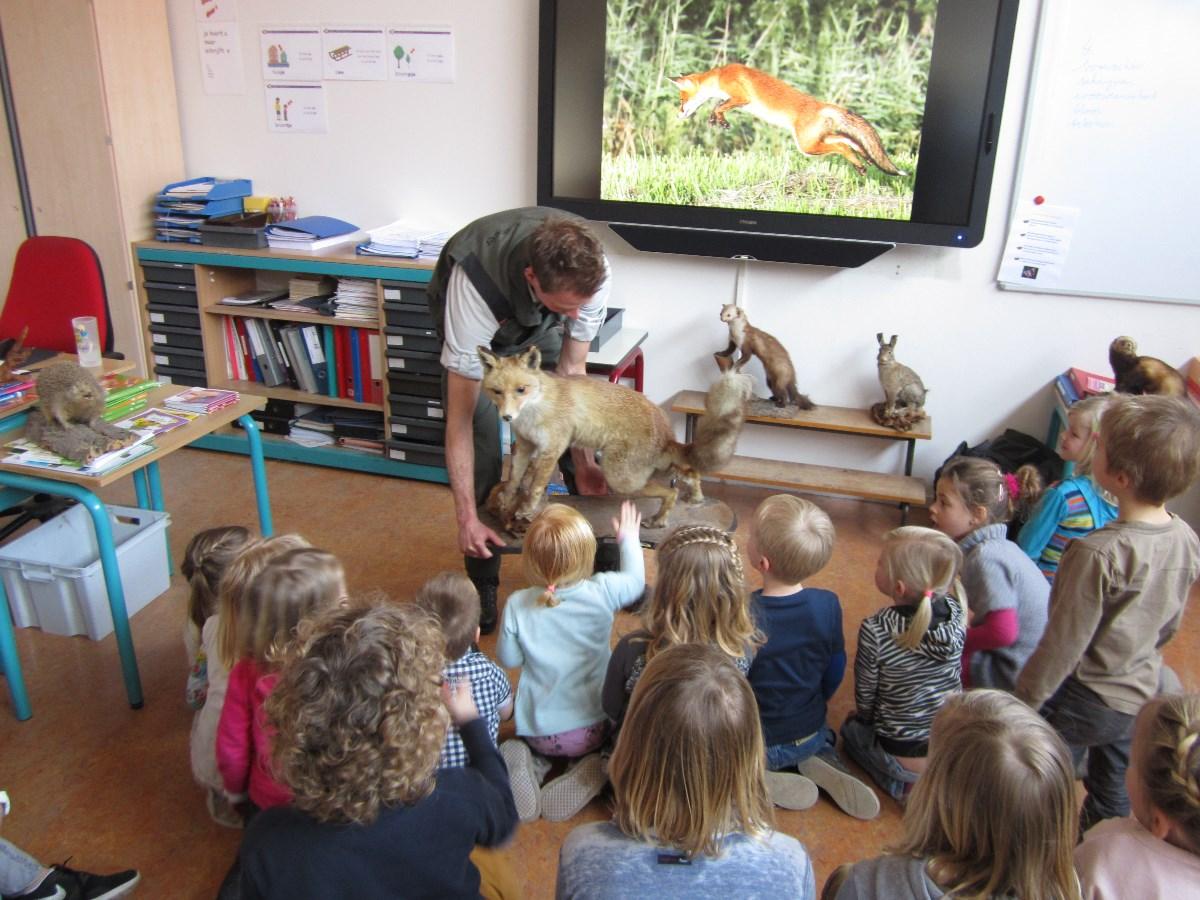 Boswachter op bezoek bij Florens Radewijnsschool